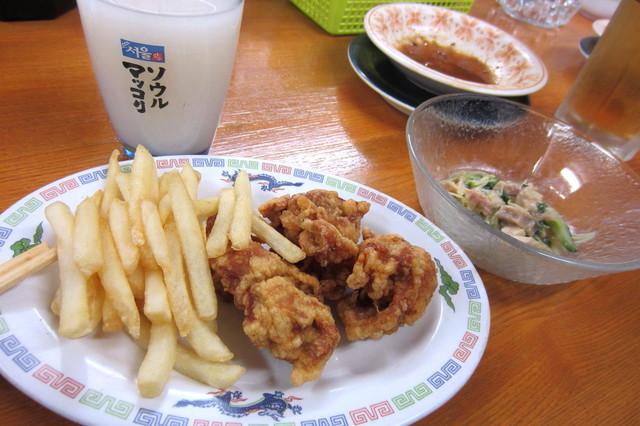 こうちゃん - ポテトフライと唐揚げ¥380