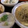 牽牛 - 料理写真:蕎麦切り定食☆笊蕎麦・小鉢・セコ蟹の炊き込みご飯♪