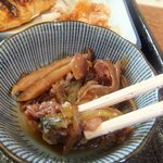浜乃家 - 定食の小鉢。すきやき風の煮物でした。