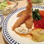 イタリヤ軒 - Aランチ(エビフライ・魚料理)