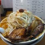 16419522 - えん魔くん(炙りチャーシュー1枚追加・野菜大盛り・にんにく少なめ)