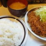キッチン南海 上井草店 - チキンカツしょうが焼きセット