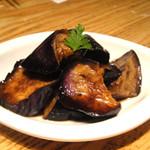 銀座並木通りワインバル nana - 揚げ茄子のバルサミコソース 380円(税込399円)