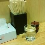 16426538 - 箸と一味と水♪