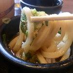 丸亀製麺 - 生姜タップリのダシでいただく