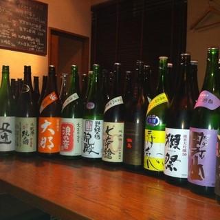 日本酒40種類以上こだわりがあります。ワインも豊富にご用意。