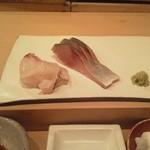 16435653 - 肴シリーズ。昆布〆鯛、〆鯖