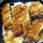 うなぎ 吉永 - ご飯の中の鰻も出したところ。