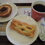 ミスタードーナツ - ブレンドコーヒー&フランクパイ&オールドファッション