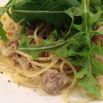 ヨシズハイ - 豚粗挽き肉と野菜のクリームソースパスタ