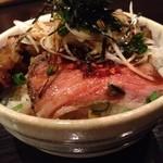 牛薫る麺処 嵐風 - 牛スジメシ