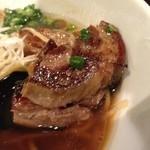 牛薫る麺処 嵐風 - 牛醤油味玉らぁ麺、炙り肉