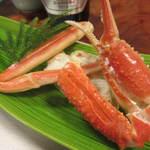 かに道楽 - 酢物:ずわい蟹蒸したて