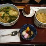 華元 - 天ぷらそば:海老一匹