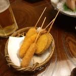 16449215 - 傳七すし 西院店のコースの串カツ(12.11)