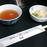 ての字 - お新香、お茶、箸( ´∀`)