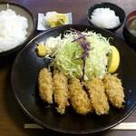 とき和 - とんかつ とき和 @志村坂上 カキフライ定食 1,000円