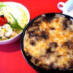 イーストデミ - 焼きカレーセット(サラダ・スープ・ドリンク付き)950円