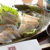 Ajikouboumatsushima - 料理写真:小伊津甘鯛の旨みを存分に楽しめる『小伊津甘鯛の焼霜造り』