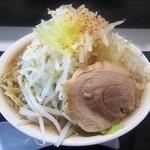 ジャンクガレッジ - ラーメン倍盛(野菜ダブル)¥800
