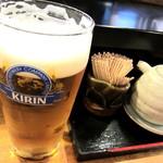 """房寿司 - おビール""""可愛いサイズです(笑"""