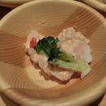 旬菜食健 ひな野 - 海老とブロッコリーのサラダ カクテルソース