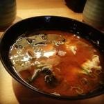 魚河岸料理 うおぎん - 赤出汁
