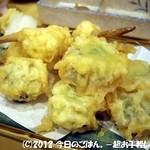 大衆酒蔵 日本海 - くわいと芽きゃべつの天ぷら
