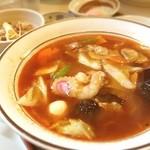六文亭 - 辛し五目ラーメンネギ豚丼セット(๑´ڡ`๑)