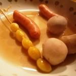 はる屋 - 銀杏、里芋、ソーセージ