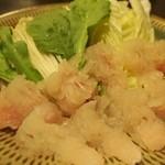 割烹 丸清 - 鱧しゃぶ(小)