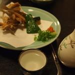 割烹 丸清 - めごち天ぷら