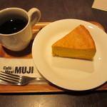 MUJI - 珈琲とかぼちゃのチーズケーキ