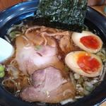麺家 はなまる - 魚介ラーメン¥650+味玉¥100(H24.12.16撮影)