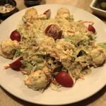 レストラン ザクロ - 2012.12 ポテトサラダ入りのサラダ