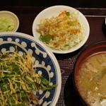 東銀座 羅豚 - 羅豚丼(豚、水菜、マヨソース)