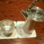 御料理 伊とう - ≪12月≫高価な錫の酒器。私の好きな薩摩錫の徳利に、大阪錫のお猪口。底に干支の彫り物が。。。特注です。