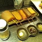 酒肴旬漁 狸穴 - 『狸穴名物 串おでん(¥590)』
