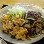 こむすび - 牛焼肉&鶏唐揚げアップ