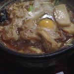 加寿の屋 - 料理写真:味噌煮込みうどん(親子入り) ¥998
