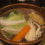 しゃぶ亭 - 野菜もたっぷり食べれるし(*^ー゚)b