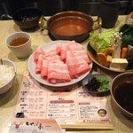しゃぶ亭 - 豚バラセット850円
