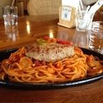 幸王ログカフェ - 料理写真:ハンバーグスパゲティ