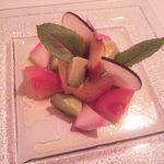 16489108 - (2012.12)前菜1/軽いあん肝のスプーマ