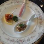 セルフィーユ - 12月23日 アミューズ レンズ豆のサラダ等