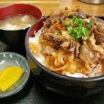 ばんちゃ屋 - 牛丼(大盛)
