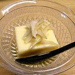 1649827 - 旬のたけのこがのっている卵豆腐