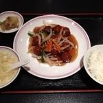 16492371 - 肉団子甘酢餡掛け定食★