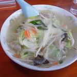 栄福 - タンメンです、某中華チェーン並みの野菜の量が素晴らしい!