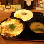 チキン亭 - 親子カツ丼ポテサラセット